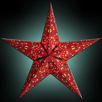 Starlightz Leuchtstern 5 Zack Diwali Red Größe M NEU!