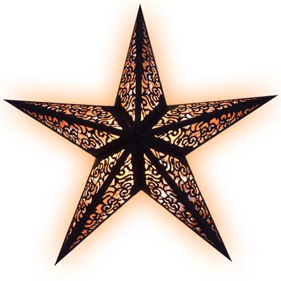Sternenlicht kala schwarz fensterdeko weihnachtsdeko for Weihnachtsdeko schwarz
