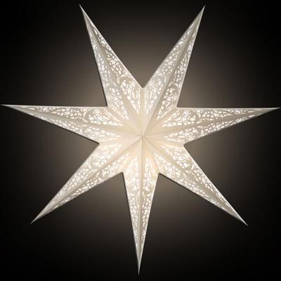 Starlightz Leuchtstern 7 Zack Siluett White Größe M NEU!
