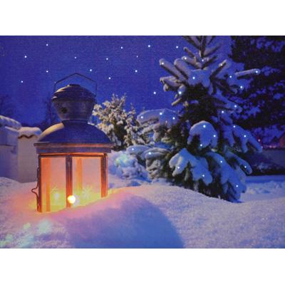 led leinwandbild dekoration weihnachtsbild winterbild fensterdeko wandbild neu ebay. Black Bedroom Furniture Sets. Home Design Ideas